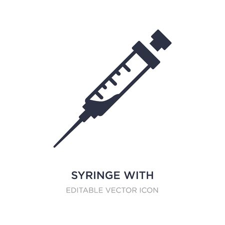 syringe with medicine icon on white background. Simple element illustration from Medical concept. syringe with medicine icon symbol design. 일러스트