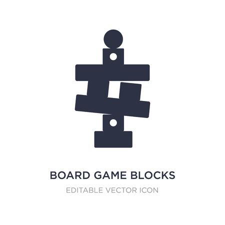 board game blocks icon on white background. Simple element illustration from Entertainment concept. board game blocks icon symbol design. Ilustracja