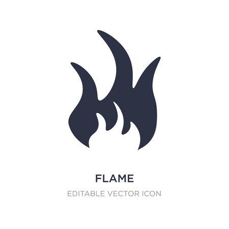 flame icon on white background. Simple element illustration from Nature concept. flame icon symbol design. Illusztráció