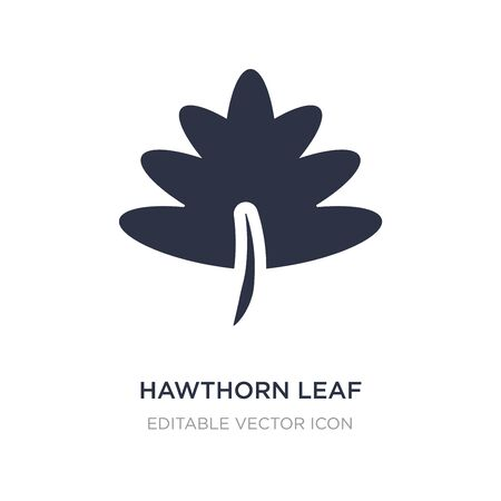 hawthorn leaf icon on white background. Simple element illustration from Nature concept. hawthorn leaf icon symbol design.