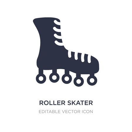 roller skater icon on white background. Simple element illustration from Fashion concept. roller skater icon symbol design.