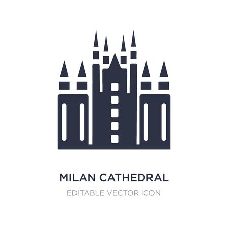 milan cathedral icon on white background. Simple element illustration from Monuments concept. milan cathedral icon symbol design.