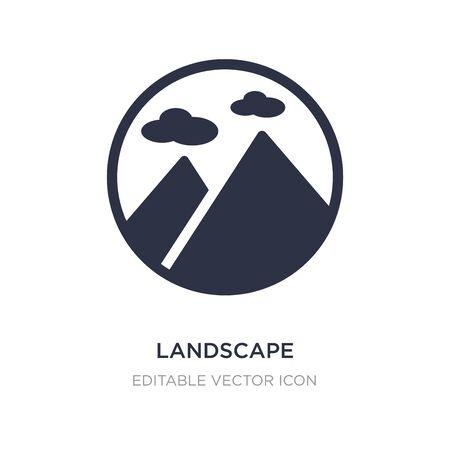 landscape inside frame icon on white background. Simple element illustration from Nature concept. landscape inside frame icon symbol design.  イラスト・ベクター素材