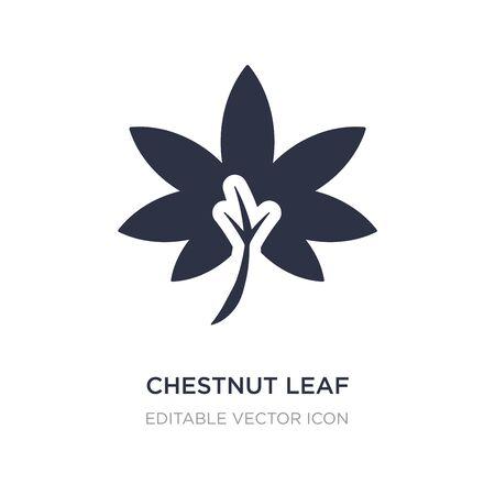 chestnut leaf icon on white background. Simple element illustration from Nature concept. chestnut leaf icon symbol design. Stock Illustratie
