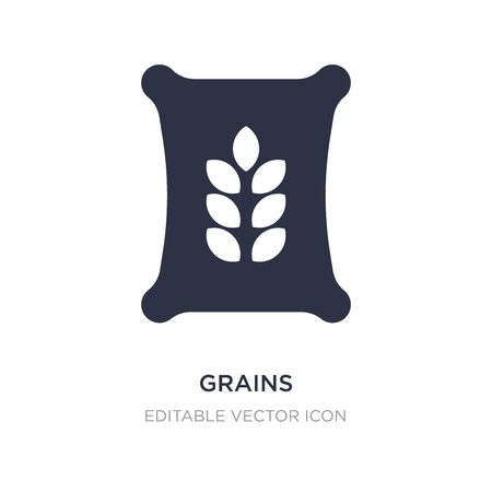 grains icon on white background. Simple element illustration from Nature concept. grains icon symbol design.