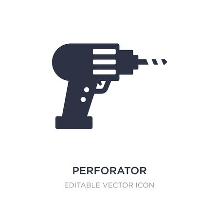 perforator icon on white background. Simple element illustration from General concept. perforator icon symbol design.