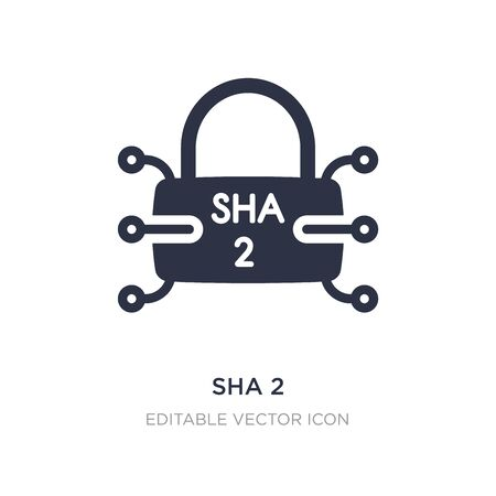 sha 2 icon on white background. Simple element illustration from Security concept. sha 2 icon symbol design.