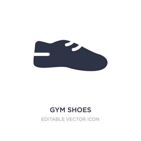 gym shoes icon on white background. Simple element illustration from Fashion concept. gym shoes icon symbol design. Ilustrace