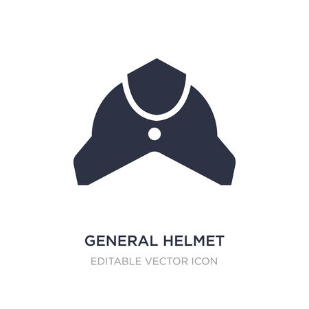 general helmet icon on white background. Simple element illustration from Fashion concept. general helmet icon symbol design.