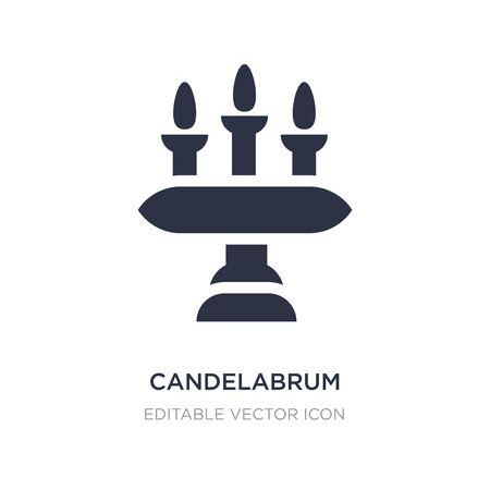 candelabrum icon on white background. Simple element illustration from Furniture and household concept. candelabrum icon symbol design. Illusztráció