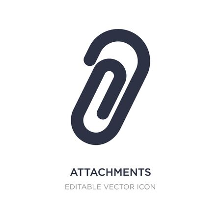 attachments icon on white background. Simple element illustration from Tools and utensils concept. attachments icon symbol design. Ilustração