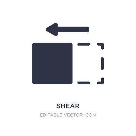 shear icon on white background. Simple element illustration from Tools and utensils concept. shear icon symbol design. Stock Illustratie