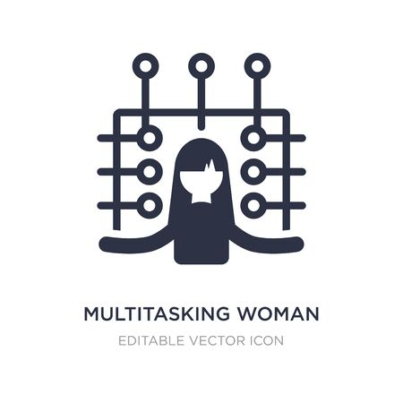 multitasking woman icon on white background. Simple element illustration from Business concept. multitasking woman icon symbol design.