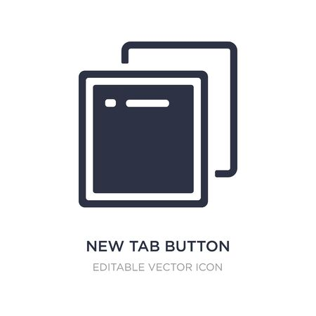 new tab button icon on white background. Simple element illustration from UI concept. new tab button icon symbol design. Ilustração