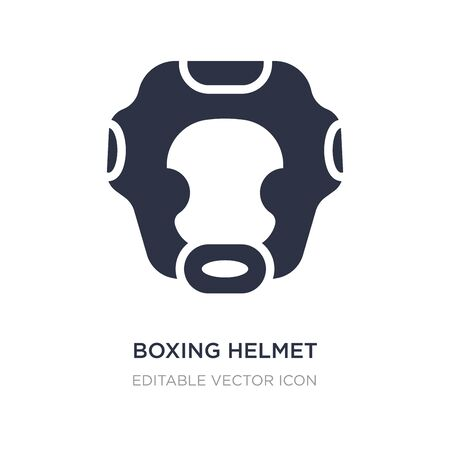 boxing helmet icon on white background. Simple element illustration from Security concept. boxing helmet icon symbol design. Illustration