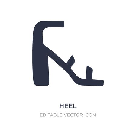 heel icon on white background. Simple element illustration from Fashion concept. heel icon symbol design.