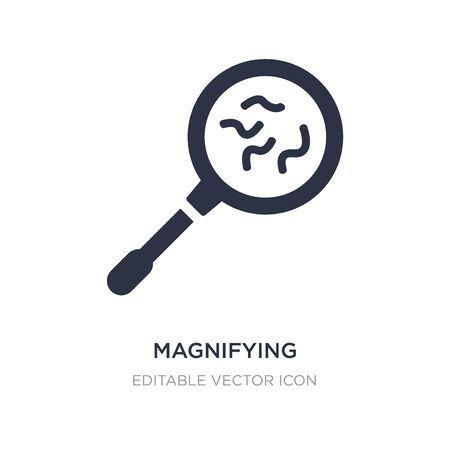 magnifying glass with worms icon on white background. Simple element illustration from General concept. magnifying glass with worms icon symbol design. Vector Illustration