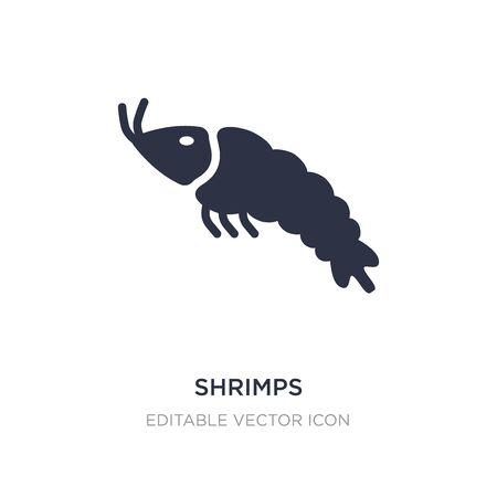 shrimps icon on white background. Simple element illustration from Food concept. shrimps icon symbol design. Illusztráció