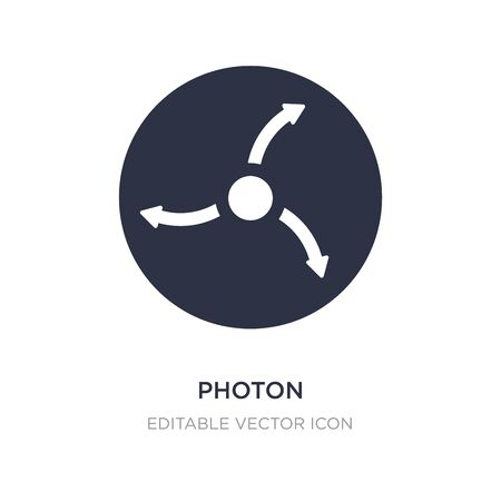 photon icon on white background. Simple element illustration from Education concept. photon icon symbol design.