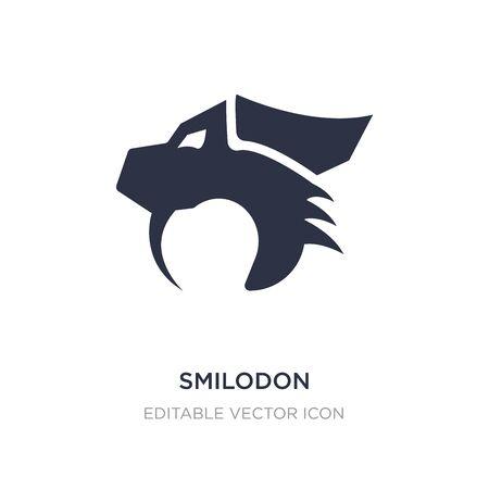 smilodon icon on white background. Simple element illustration from Animals concept. smilodon icon symbol design. Illusztráció