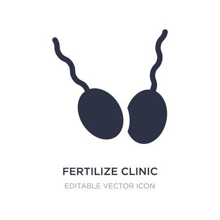fertilize clinic icon on white background. Simple element illustration from Nature concept. fertilize clinic icon symbol design.