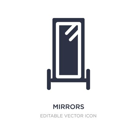 mirrors icon on white background. Simple element illustration from Fashion concept. mirrors icon symbol design.