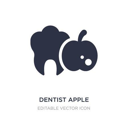dentist apple icon on white background. Simple element illustration from Dentist concept. dentist apple icon symbol design.