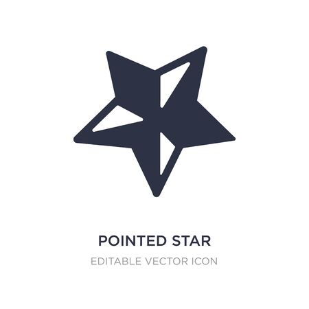 pointed star icon on white background. Simple element illustration from UI concept. pointed star icon symbol design.