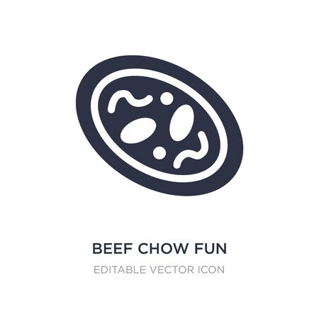 beef chow fun icon on white background. Simple element illustration from Food and restaurant concept. beef chow fun icon symbol design. Illusztráció