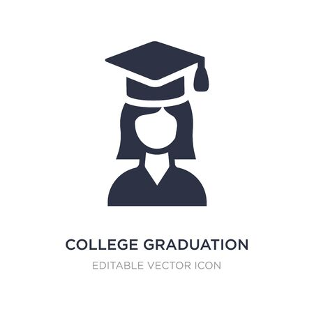 college graduation icon on white background. Simple element illustration from Education concept. college graduation icon symbol design.
