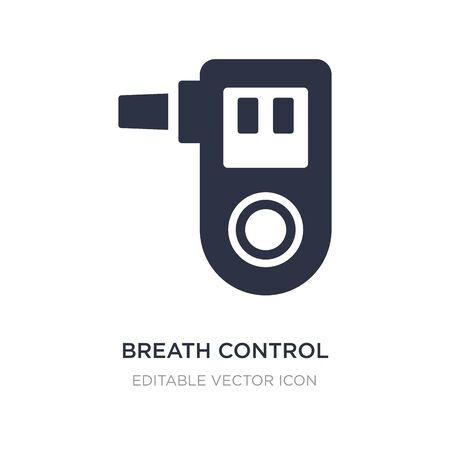 breath control icon on white background. Simple element illustration from Medical concept. breath control icon symbol design. Vector Illustration