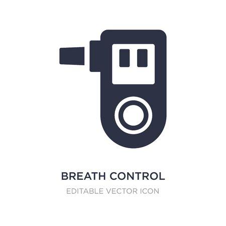 icône de contrôle de la respiration sur fond blanc. Illustration d'élément simple du concept médical. conception de symbole d'icône de contrôle de la respiration. Vecteurs