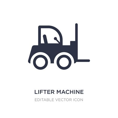 lifter machine icon on white background. Simple element illustration from Buildings concept. lifter machine icon symbol design.