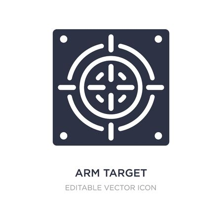 arm target icon on white background. Simple element illustration from General concept. arm target icon symbol design. 向量圖像