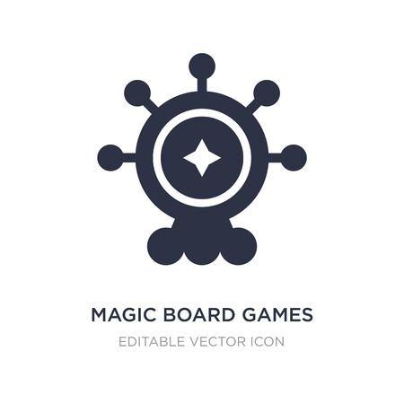 magic board games icon on white background. Simple element illustration from Entertainment concept. magic board games icon symbol design.