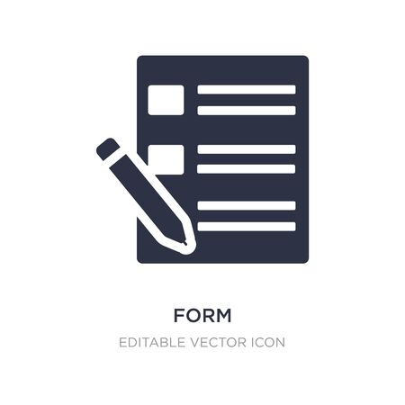 form icon on white background. Simple element illustration from UI concept. form icon symbol design.