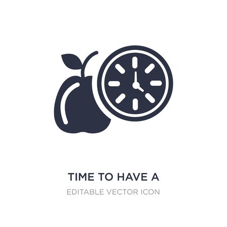 time to have a break icon on white background. Simple element illustration from Food concept. time to have a break icon symbol design.