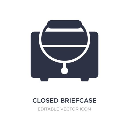 closed briefcase icon on white background. Simple element illustration from Fashion concept. closed briefcase icon symbol design.