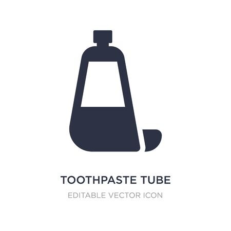toothpaste tube icon on white background. Simple element illustration from Dentist concept. toothpaste tube icon symbol design.
