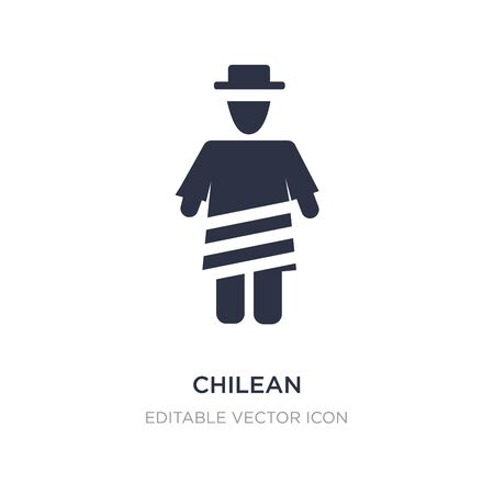 chilean icon on white background. Simple element illustration from People concept. chilean icon symbol design. Banque d'images - 135302362