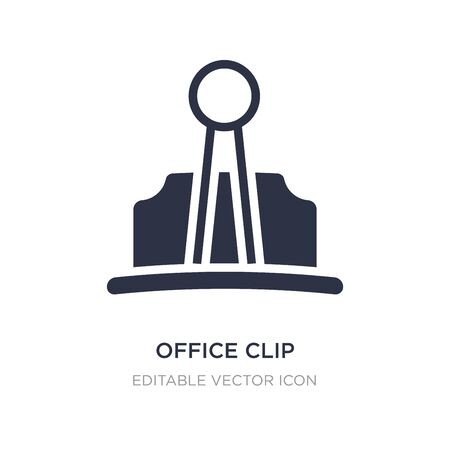 office clip icon on white background. Simple element illustration from Other concept. office clip icon symbol design. Ilustração