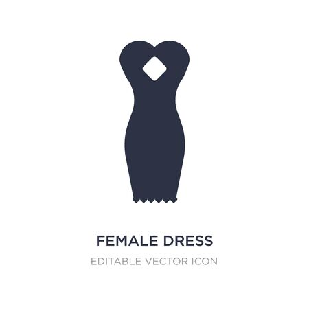 female dress icon on white background. Simple element illustration from Fashion concept. female dress icon symbol design.