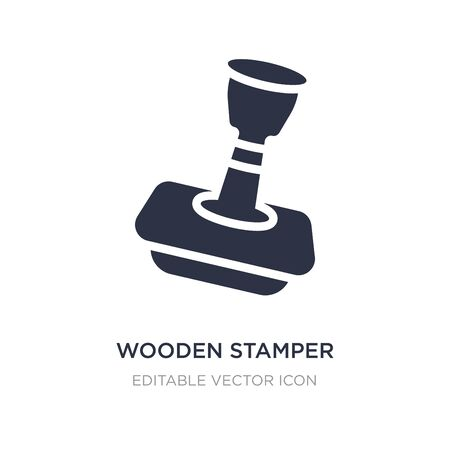 wooden stamper icon on white background. Simple element illustration from Other concept. wooden stamper icon symbol design.