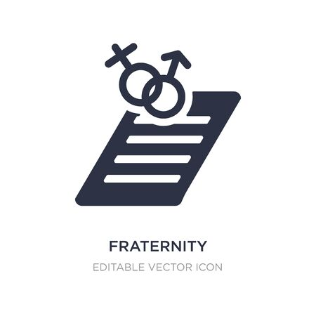 fraternity icon on white background. Simple element illustration from Education concept. fraternity icon symbol design.