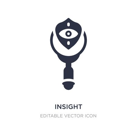insight icon on white background. Simple element illustration from Security concept. insight icon symbol design. Vetores