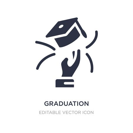 graduation ceremony icon on white background. Simple element illustration from Business concept. graduation ceremony icon symbol design.