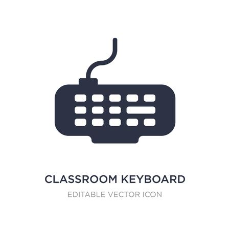 classroom keyboard icon on white background. Simple element illustration from Computer concept. classroom keyboard icon symbol design.