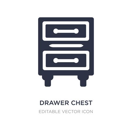 drawer chest icon on white background. Simple element illustration from Furniture and household concept. drawer chest icon symbol design.