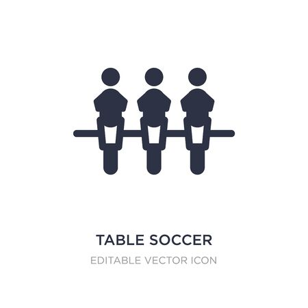 table soccer icon on white background. Simple element illustration from Entertainment concept. table soccer icon symbol design.