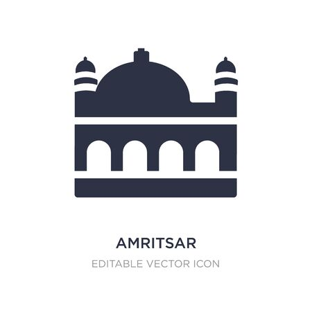 amritsar icon on white background. Simple element illustration from Monuments concept. amritsar icon symbol design.